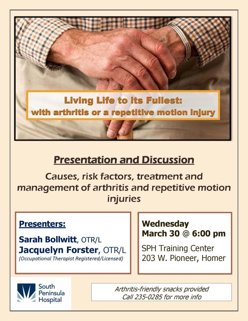 Arthritis Presentation Flyer